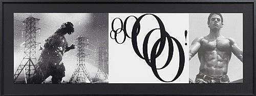 """Julian Göthe – Oooo! (""""I've Got A Crush On You""""), 2011 silkscreen on paper 31 x 100,1 cm"""