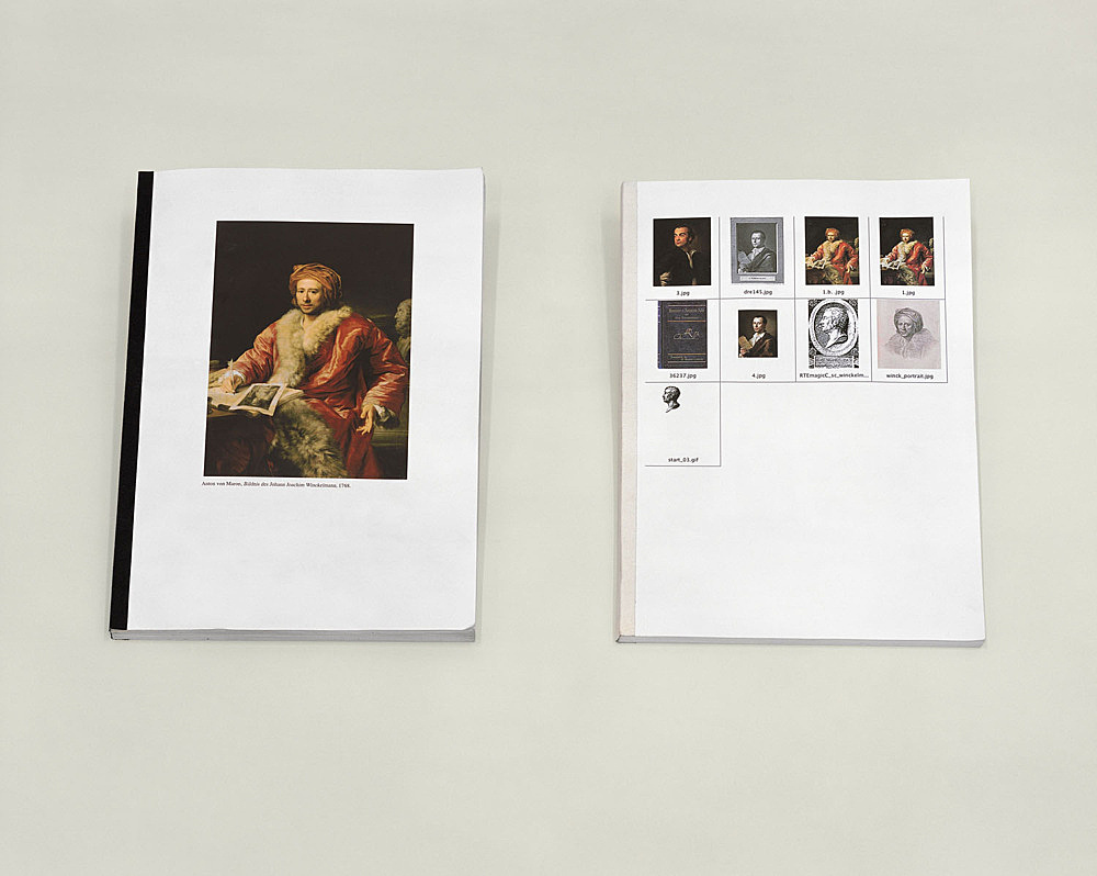 "Henrik Olesen – ""some gay – lesbian artists (and/or artists relevant to homo-social culture) born inbetween 1717 – 1898"", 2005 collaged book: 29,7 x 21 cm, 146 pp xeroxed book: 29,7 x 21 cm, 98 pp table: 68 x 90 x 160 cm"