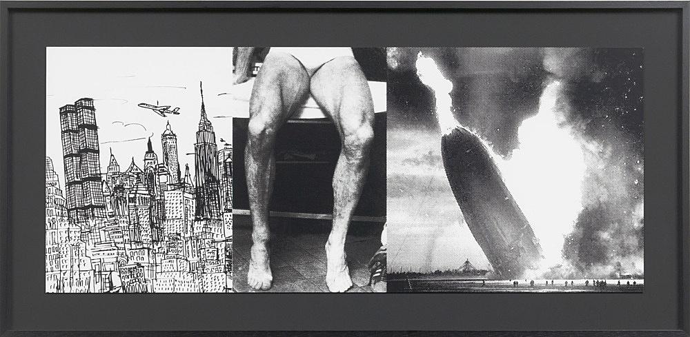 """Julian Göthe – Oooo! (""""Here Lies Love""""), 2011 silkscreen on paper 31 x 76 cm"""