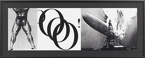 """Julian Göthe – Oooo! (""""How About Me""""), 2011 silkscreen on paper 31 x 93,8 cm"""