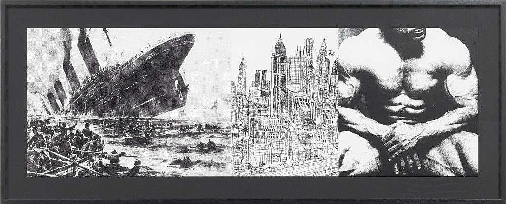 "Julian Göthe – Oooo! (""I'll Be Around""), 2011 silkscreen on paper 31 x 94,8 cm"