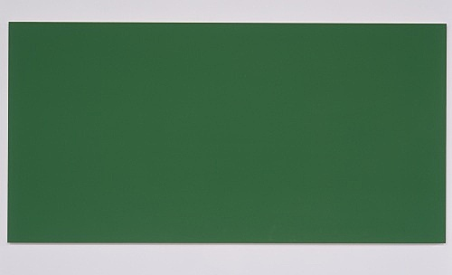 "Morgan Fisher – ""Pendant Pair Painting (red/green)"", 2007 1 of 2 works, acrylic on canvas on wood 100 x 200 cm"