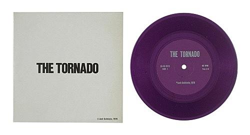 "Jack Goldstein – ""A Suite of Nine 7-Inch Records"", 1976 45 rpm, different colored 7-inch vinyl detail: ""The Tornado"", 1976 45 rpm, purple vinyl"