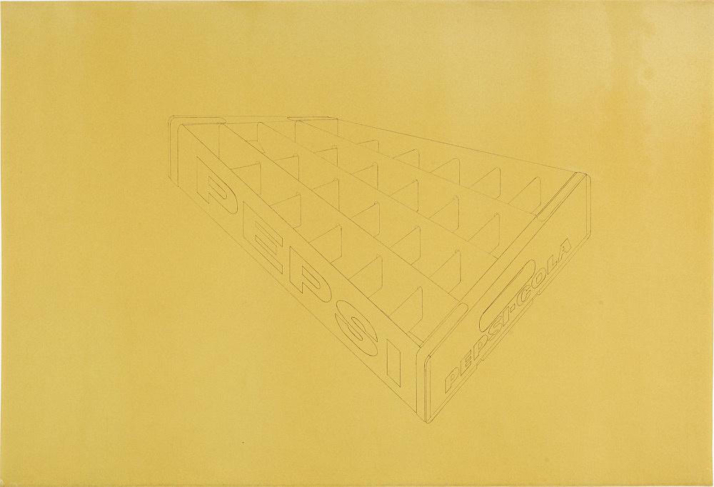 Morgan Fisher – Untitled, 1968 blueline on paper (orange) 76 x 111 cm unique