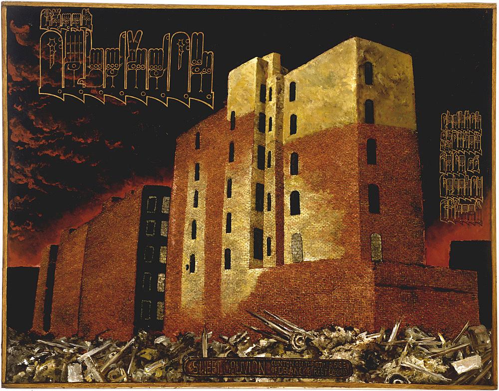 "Martin Wong – ""Sweet Oblivion"", 1983 acrylic on canvas 213.5 x 274.5 cm"