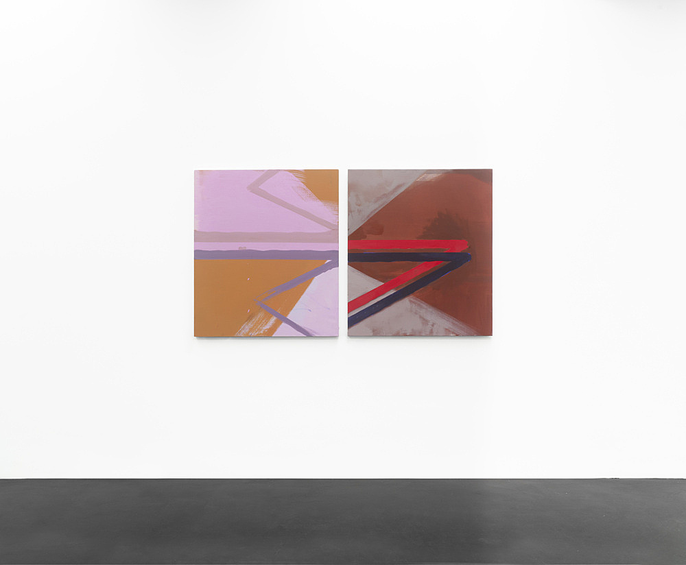 Thomas Eggerer – Untitled, 2010 2 parts, oil and acrylic on linen each 100 x 86,5 cm