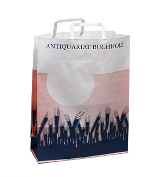 Pae White – Design for paper bags for Antiquariat Buchholz, Köln 2001