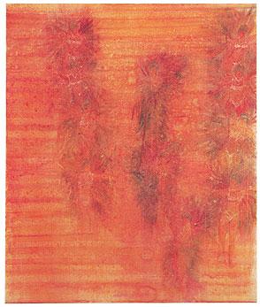 """Silke Otto-Knapp – """"25th Floor"""", 2003 watercolour on canvas 95 x 80 cm"""