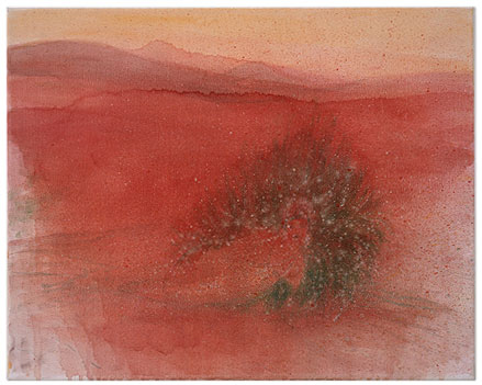"Silke Otto-Knapp – ""Desert"", 2002 watercolour on canvas 40 x 50 cm"
