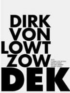 "Dirk von Lowtzow – ""Dekade 1993-2007"" with Cosima von Bonin, Sergej Jensen, Michael Krebber and Henrik Olesen 2007, 112 p., 16 colour plates, Owrps., 20 x 16,5 cm Edition 800 out of print – Dirk von Lowtzow, singer and songwriter of the German band Tocotronic publishes in this book his collected song lyrics from the last 14 years. Dirk von Lowtzow invited his artist friends Cosima von Bonin, Sergej Jensen, Michael Krebber and Henrik Olesen to participate in this publication. The layout of the book has been developed in collaboration with Cosima von Bonin. All artists contribute colour plates of a special selection of works as an hommage to the band."