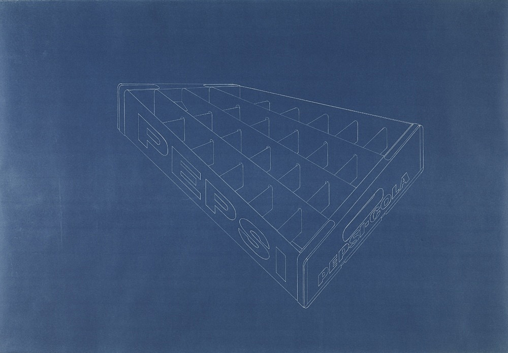 Morgan Fisher – Untitled, 1968 blueprint on paper 76 x 111 cm