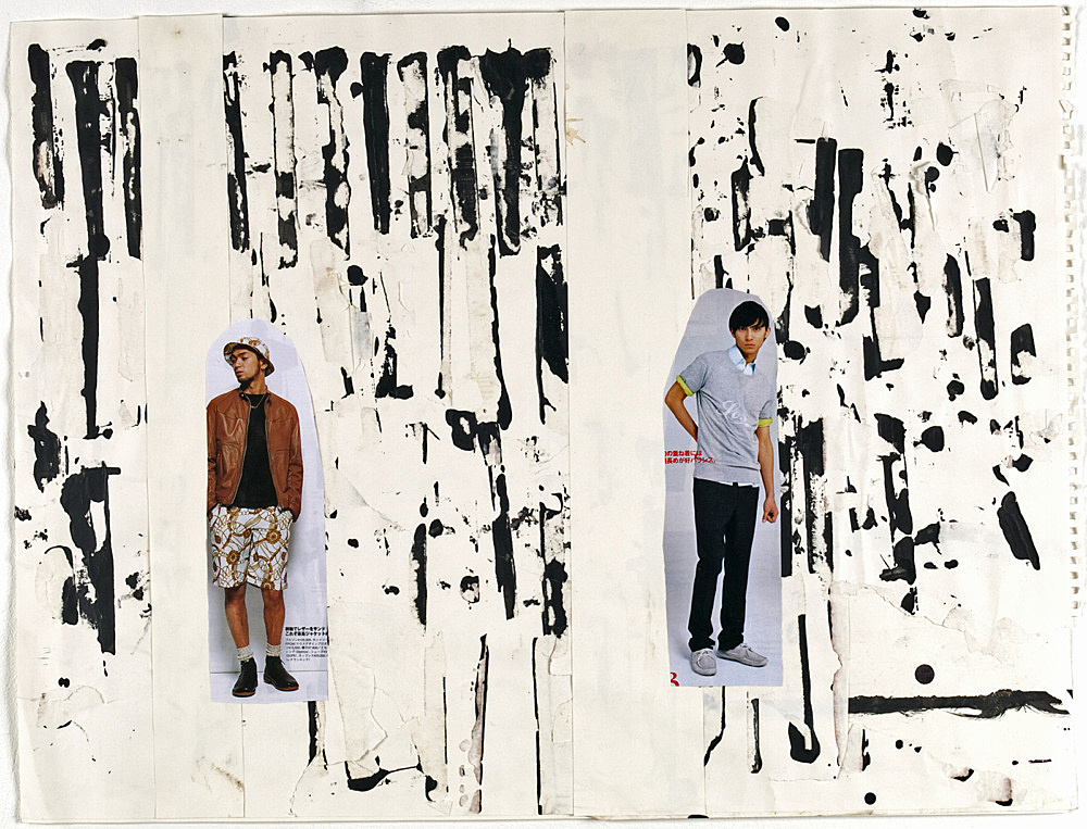 "Richard Hawkins – ""Shinjuku Boy (#2)"", 2008 collage 45.5 x 60.5 cm"
