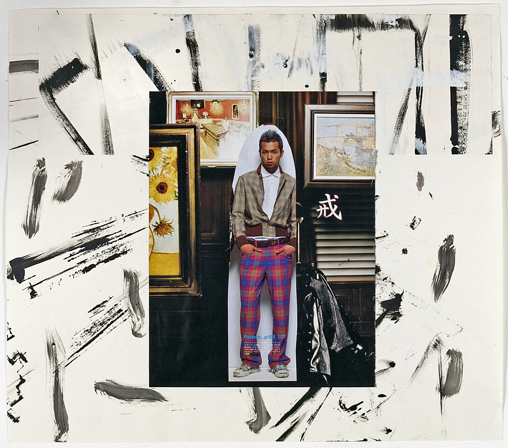 "Richard Hawkins – ""Shinjuku Boy (#17)"", 2008 collage 43.5 x 49.5 cm"