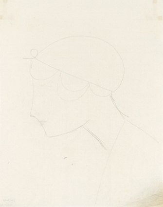 Elie Nadelman – Untitled, ca. 1921 pencil on paper 25 x 20 cm