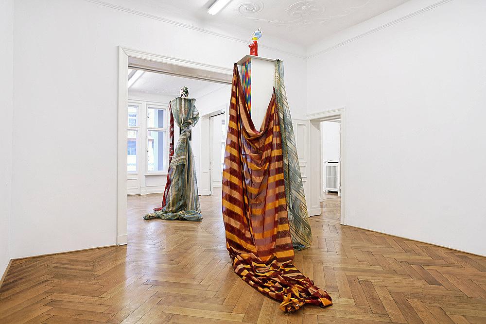 """Isa Genzken – """"Wind"""" installation view Galerie Daniel Buchholz, Berlin 2009"""