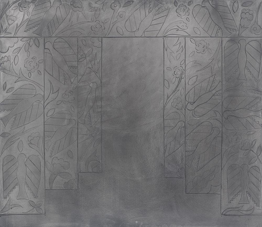 "Silke Otto-Knapp – ""Stage (Birds)"", 2012 watercolour on canvas 130 x 150 cm"