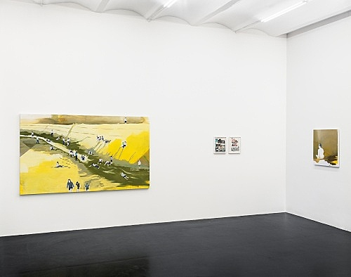 "Thomas Eggerer – ""O Pioneers"" installation view Galerie Daniel Buchholz, Köln 2006"
