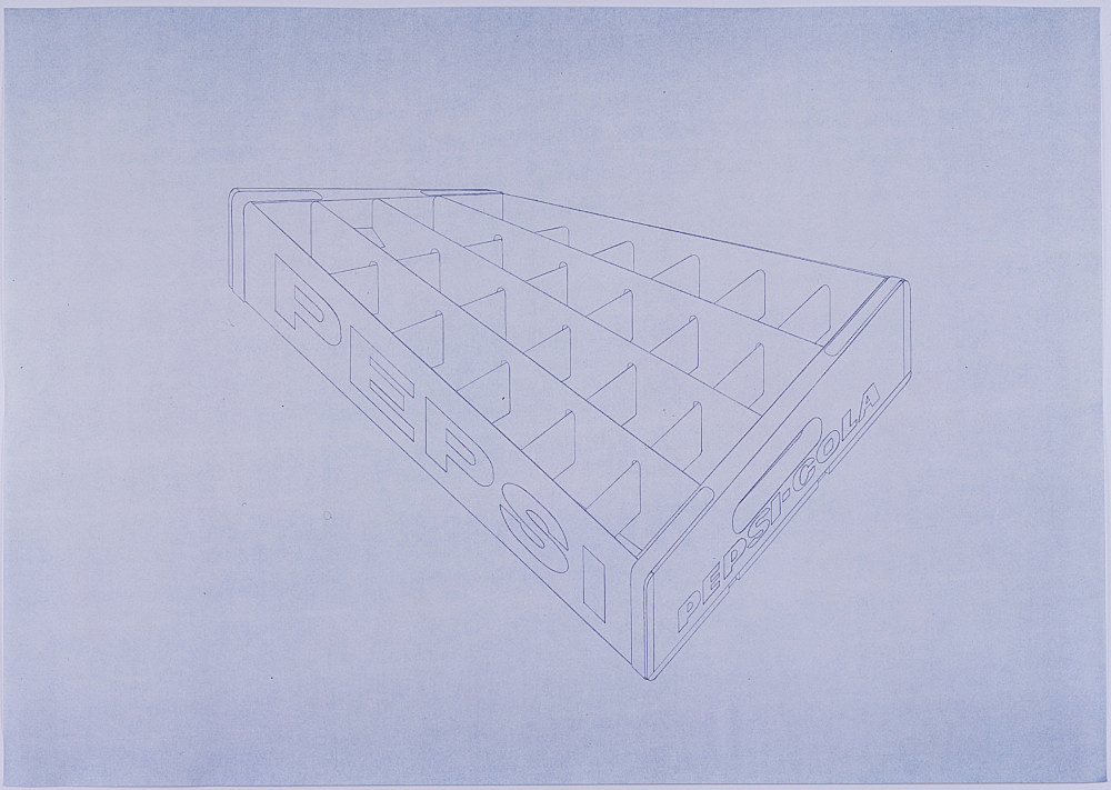 Morgan Fisher – Untitled, 2008 blueline on paper 76 x 111 cm