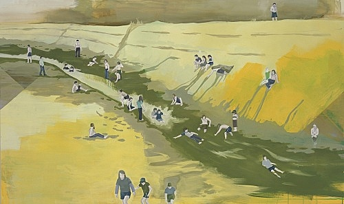 "Thomas Eggerer – ""Sulphur Canyon"", 2005 acrylic on canvas 132 x 220 cm"