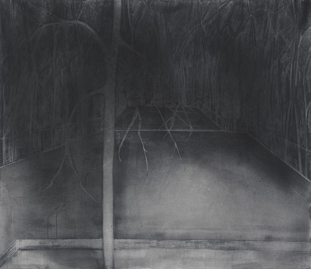 """Silke Otto-Knapp – """"Stage (North & South)"""", 2012 watercolour on linen 130 x 150 cm"""