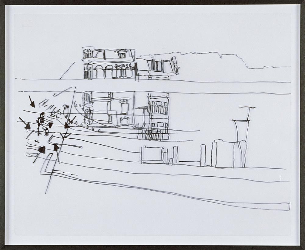 Keren Cytter – Untitled, 2003 drawing from the film 'Nothing' felt pen on transparent foil