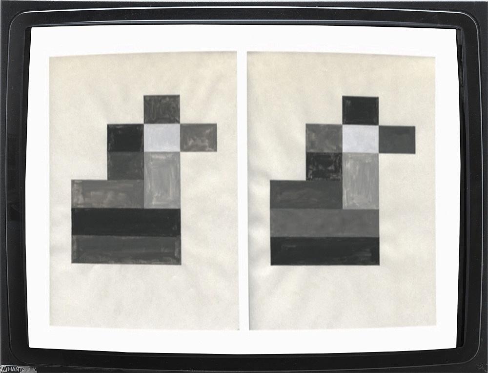 """Isa Genzken – """"Die Form entwickelt sich daraus, dass jede der 5 Farben jede andere Farbe berührt"""", 1973/2013 DVD, 5'54''"""