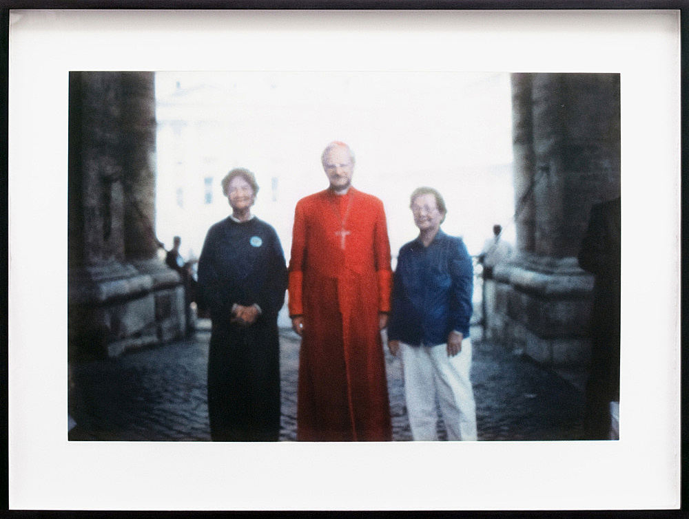 """Danh Vo – """"Kardinal"""", 2010 First pilgrimage to Rome of Nguyen Thi Ty and Ngo Thi Ha heliogravure on somerset white satin 300g framed: 45 x 60,5 cm"""
