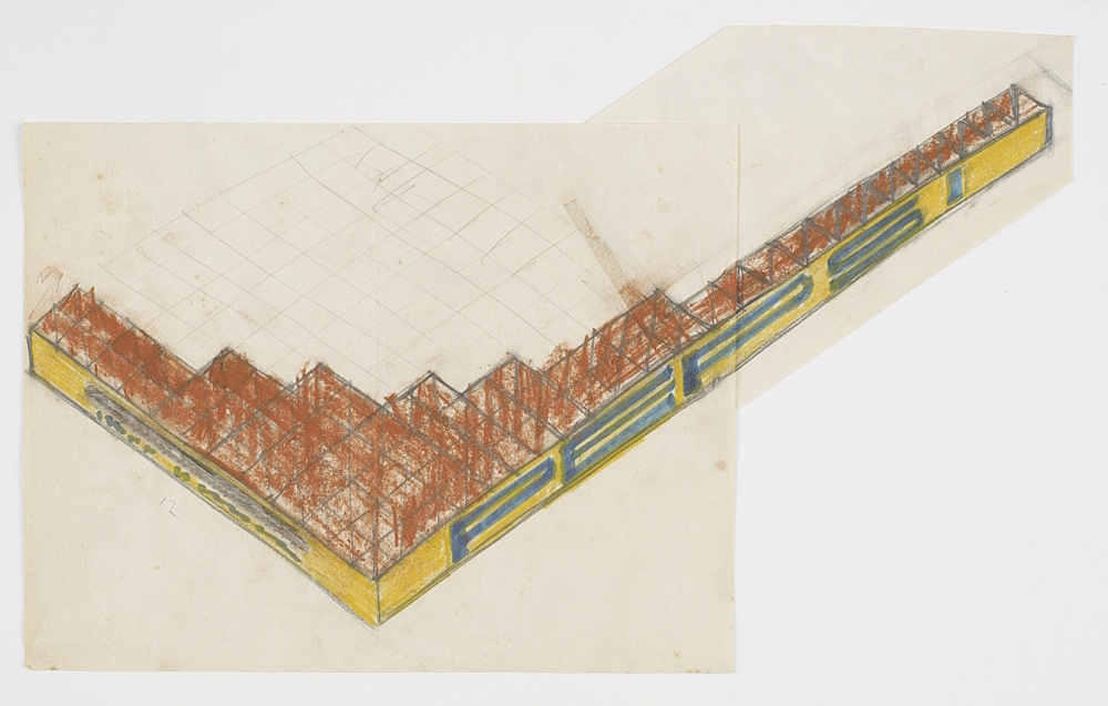 Morgan Fisher – Untitled, 1968 pencil, coloured pencil and marker on paper 25,5 x 41 cm