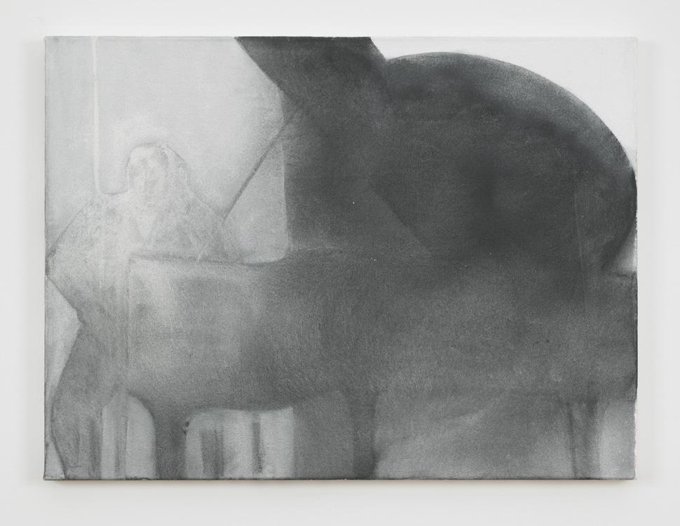 "Silke Otto-Knapp – ""Piano"", 2011 watercolour on canvas 45 x 60 cm"