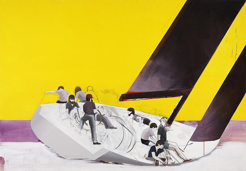 """Thomas Eggerer – """"Regatta"""", 2009 acrylic on canvas 153 x 218,5 cm"""