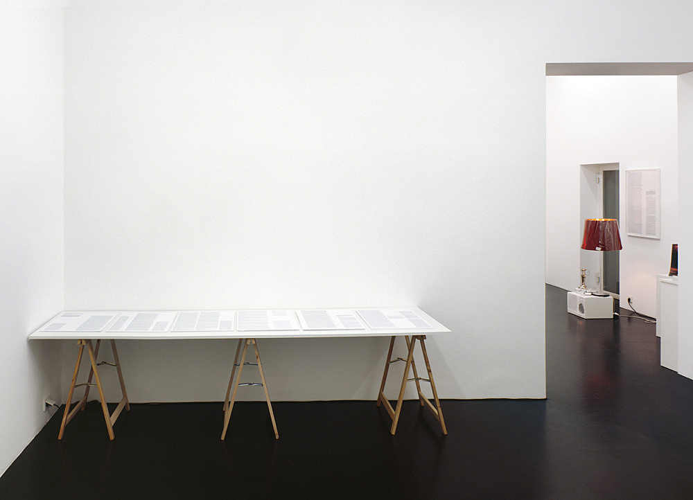 """Josef Strau – """"Voices"""" installation view Galerie Daniel Buchholz, Köln 2007"""