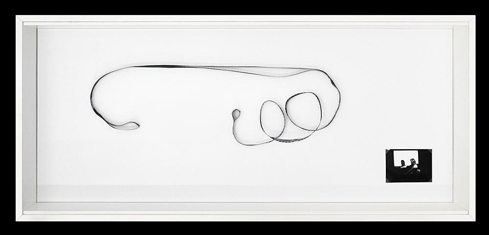 """Tony Conrad – """"Bowed Film"""", 1974 16mm film dimensions variable"""