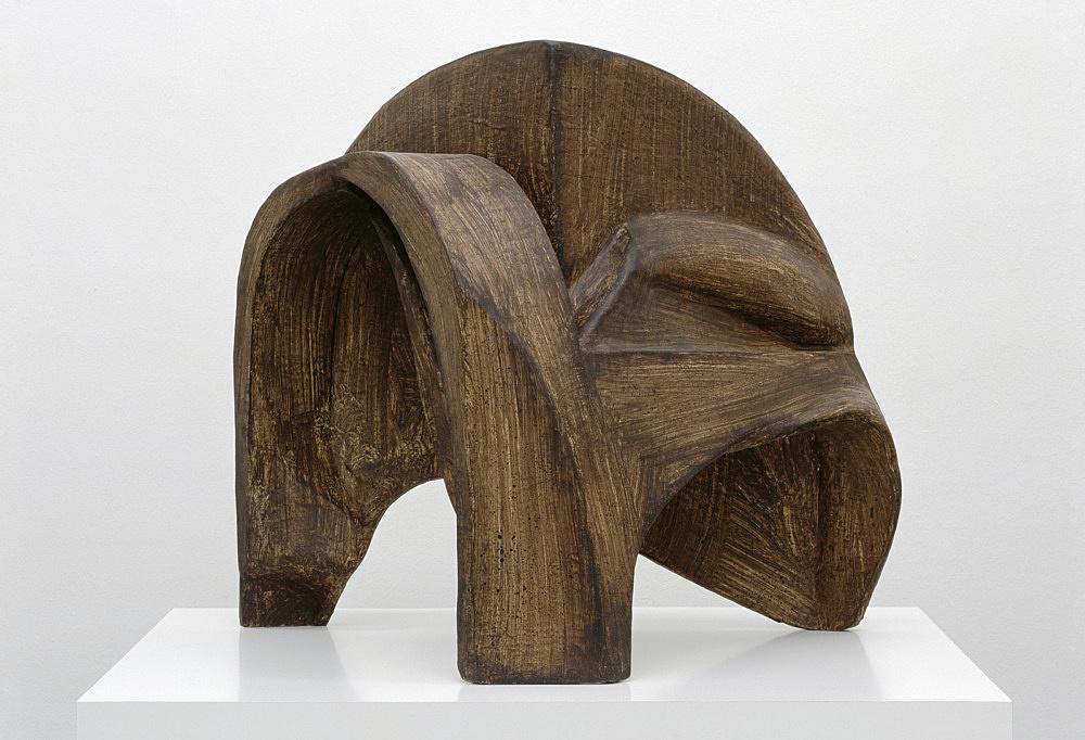 Vincent Fecteau – Untitled, 2006 papier-mâche 58 x 60 x 46 cm