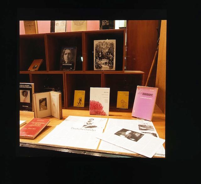 Michael Krebber – window display in collaboration with Die Produzentin installation view Antiquariat Buchholz, Köln 2005