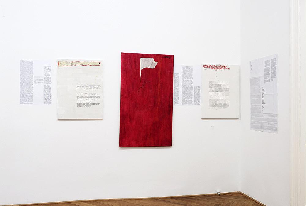 "Josef Strau – ""The Oriental Therapies"" installation view Galerie Daniel Buchholz, Berlin 2009"