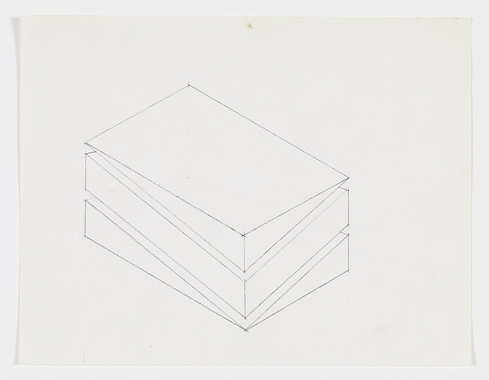 Morgan Fisher – Untitled, 1968 pencil on paper 21,6 x 27,9 cm