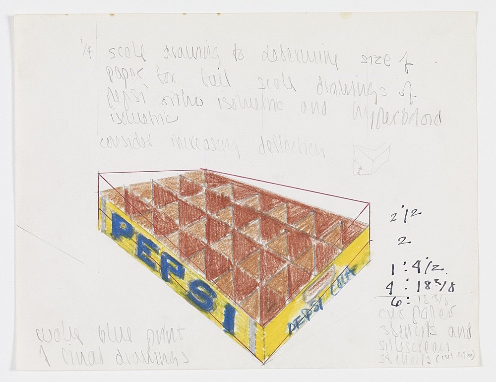 Morgan Fisher – Untitled, 1968 pencil, coloured pencil and marker on paper 21,6 x 27,9 cm