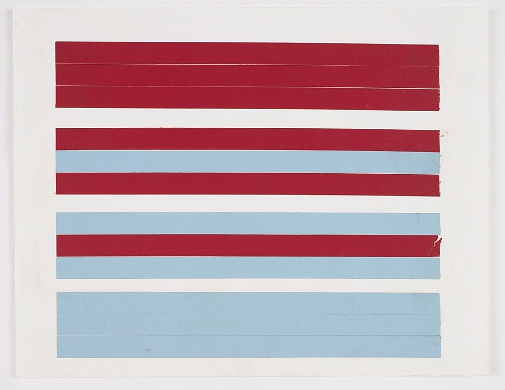 Morgan Fisher – Untitled, 1967/68 paper tape on paper 21,8 x 28 cm