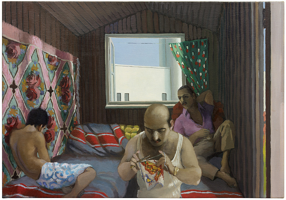 "Lukas Duwenhögger – ""Sunday Afternoon"", 2002 oil on canvas 46 x 65 cm"