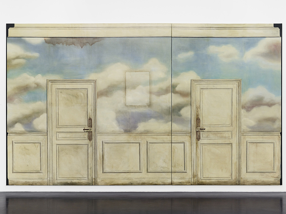 "Lucy McKenzie – ""Mrs. Diack"", 2010 oil on canvas 2 parts, 290 x 300 cm and 290 x 200 cm"