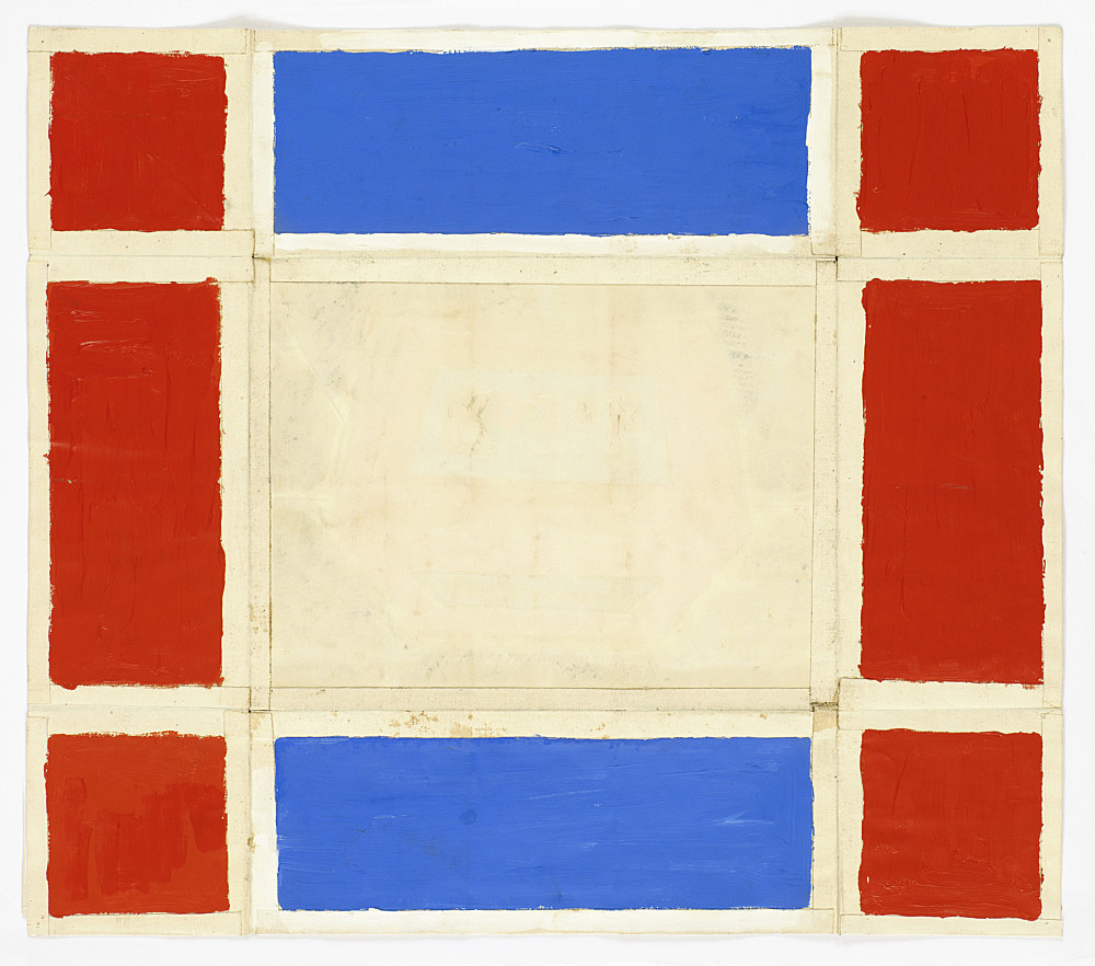 Morgan Fisher – Untitled, 1966 acrylic on paper 44,5 x 51,5 cm back