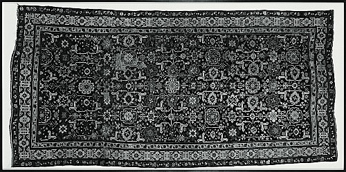 """Jeroen de Rijke/Willem de Rooij – """"Caucasian Rug, Shirwan, Baku 1880"""", 2002 c-print, framed 163 x 328 cm"""