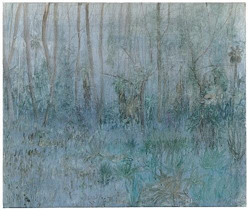 """Silke Otto-Knapp – """"Grey Garden"""", 2003 watercolour on canvas 80 x 95 cm"""