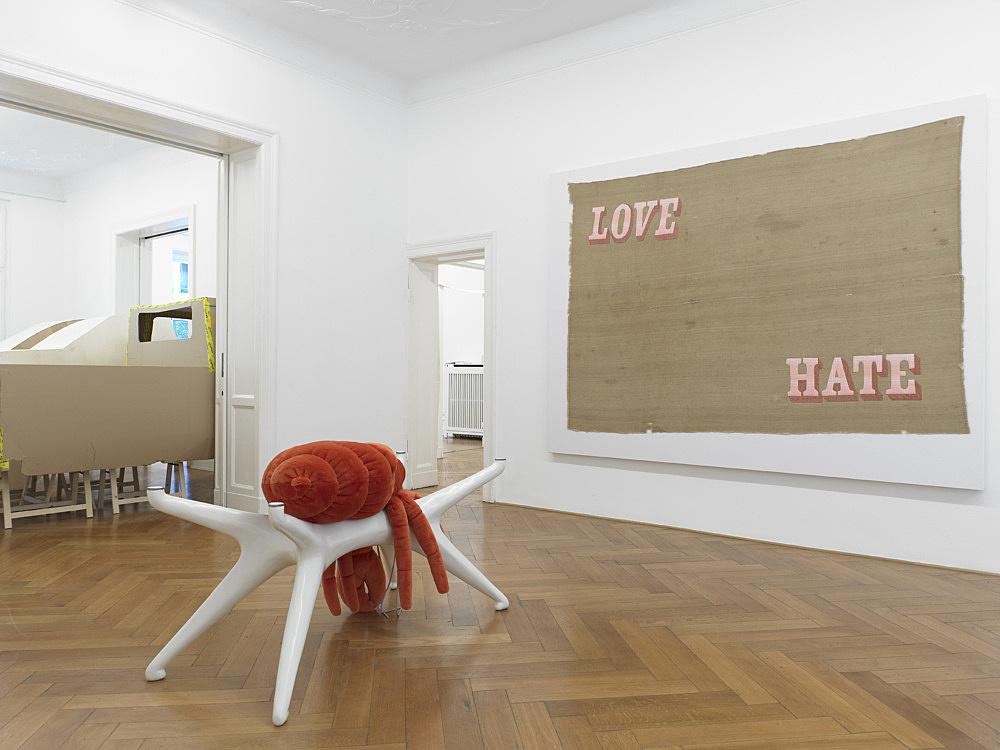 Cosima von Bonin – GRANDVILLE AND THE DECISION AT GRANDVILLE installation view Galerie Buchholz, Berlin 2011