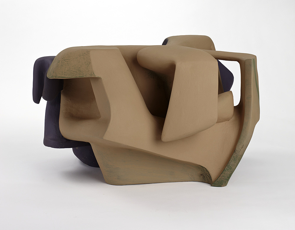 Vincent Fecteau – Untitled, 2011 gypsum cement, resin clay, acrylic paint 37 x 61 x 55 cm