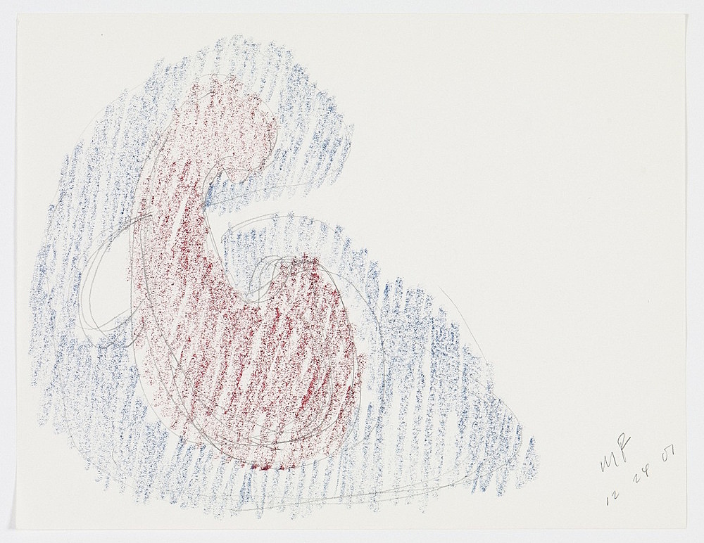 Morgan Fisher – Untitled, 2001 pencil and crayon on paper 21,6 x 27,9 cm