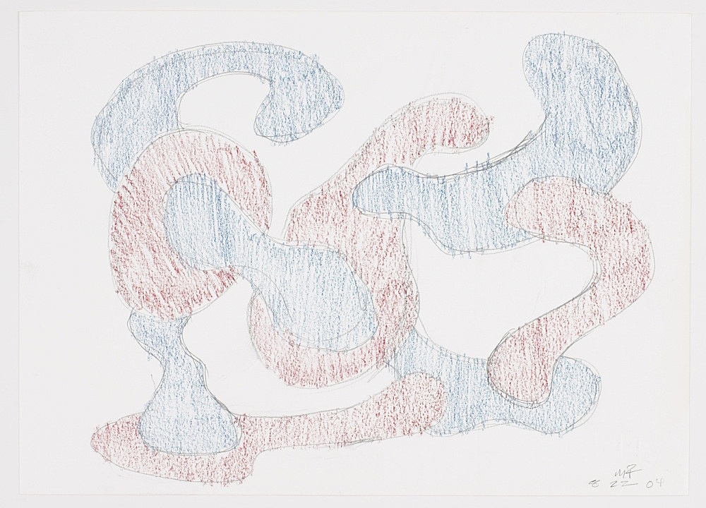 Morgan Fisher – Untitled, 2004 pencil and crayon on paper 23,9 x 33,1 cm