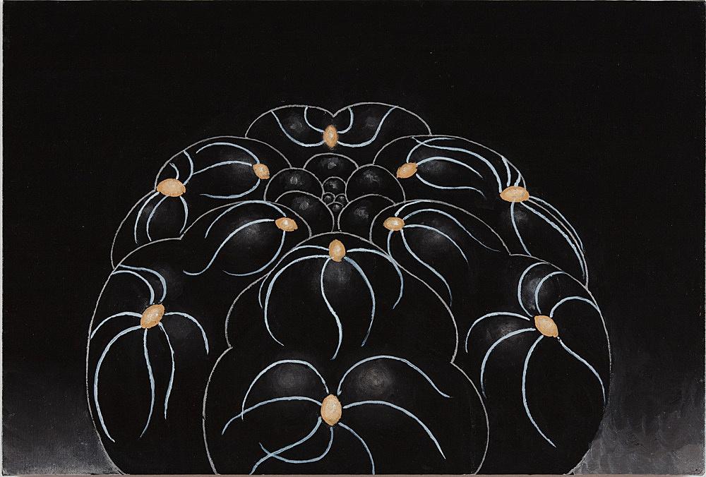 "Martin Wong – ""Chin Cactus Gymnocalycium"", 1997-98 acrylic on canvas 50,8 x 76,2 cm"