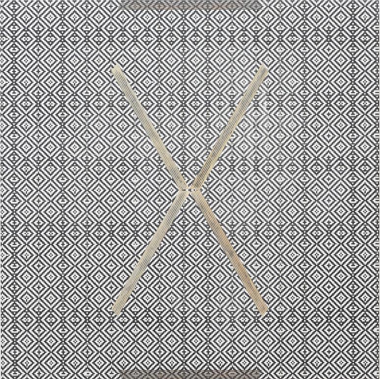 """R.H. Quaytman – """"X"""", 2011 silkscreen ink, oil, gesso on wood 82,5 x 82,5 cm"""