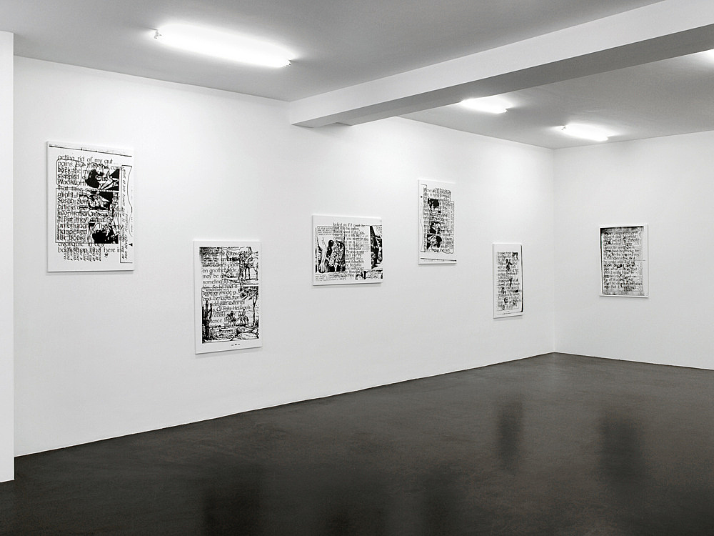 "Michael Krebber – ""Respekt Frischlinge"" installation view, Galerie Daniel Buchholz, Köln 2007"